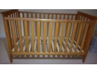 Quality cot bed that converts into a single bed
