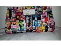 Montmarte Multicolour Magazine Print Clutch Bag