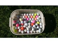 Box of Mixed Golf Balls