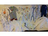 Baby Boy 3-6 months Vests & Baby Grow Bundle 1