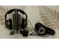 Sennheiser RS 180 wireless digital headphones with spare HDR 170 hedphone set