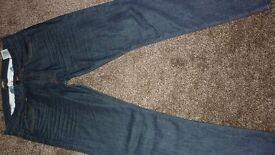 "Barbour international Comet Slim Jeans, Rinse & Resin 34""x32"""