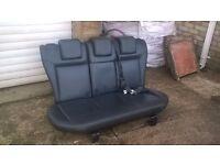 Fiesta Mk6 Black Leather Rear Seats