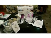 Philips avent single electric breast pump plus a hand pump too