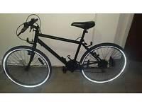 Matte black bike.
