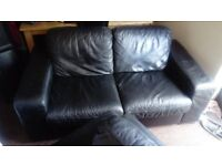 leather 2 sofa and 1 recliner chair