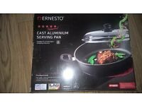 Cast aluminimum serving pan brand new