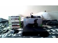 xbox 360 250gb slim + 16 games headset £11+0