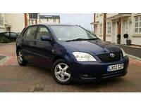 2002 Toyota Corolla Hatchback MK 9 1.6 VVT-I T3 5DR++Full Toyota Service History+ Drives well+Clean
