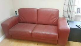 Free Red Leather sofa