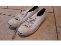 White jack parcell leather converse size 8.5 £8