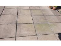 FREE - 30 pressed concrete flags measuring 750cms x 600cms (2.5 ft x 2 ft).