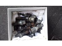 20X BMW WHEEL BOLTS WITH 2 LOCKING NUTS AND A KEY FOR 3 SERIES 5 X 120 PCD