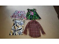 Bundle of womens clothes in a variety of sizes, most are 10-12.