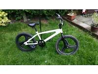 Bmx bike .mag wheels. rear stunt pegs great tyres can deliver