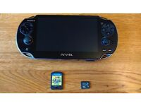 PS Vita (Sony PlayStation Vita) OLED + 16Gb Memory Card + Game £80