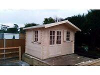 3,5 x 2,5 m nice Log cabin (34 mm)