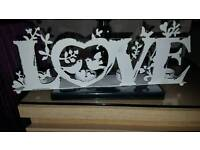 Distressed LOVE Tee-light candle holder