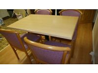 Laminated Dining Table + 4 Chairs