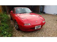 Mazda MX5 Mark 1. 1992/J. RED. Needs work.