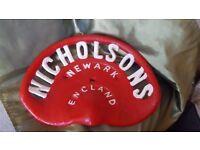 Nicholsons Vintage Cast Iron Tractor Seat