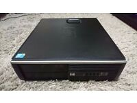 HP ELITE 8000 SFF Slim Desktop Quad core 8GB, 32GB-SSD, 1TB-HDD Windows 10 PC