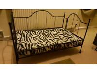 Metal frame dog bed with bed