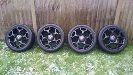 Abarth Punto Evo Claw Alloys (4No.) with Tyres