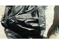 Bikers leathers genuine leather black