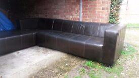 Italian leather corner sofa FREE DELIVERY