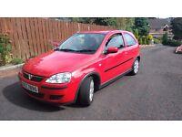 Vauxhall corsa 2005 red 3door
