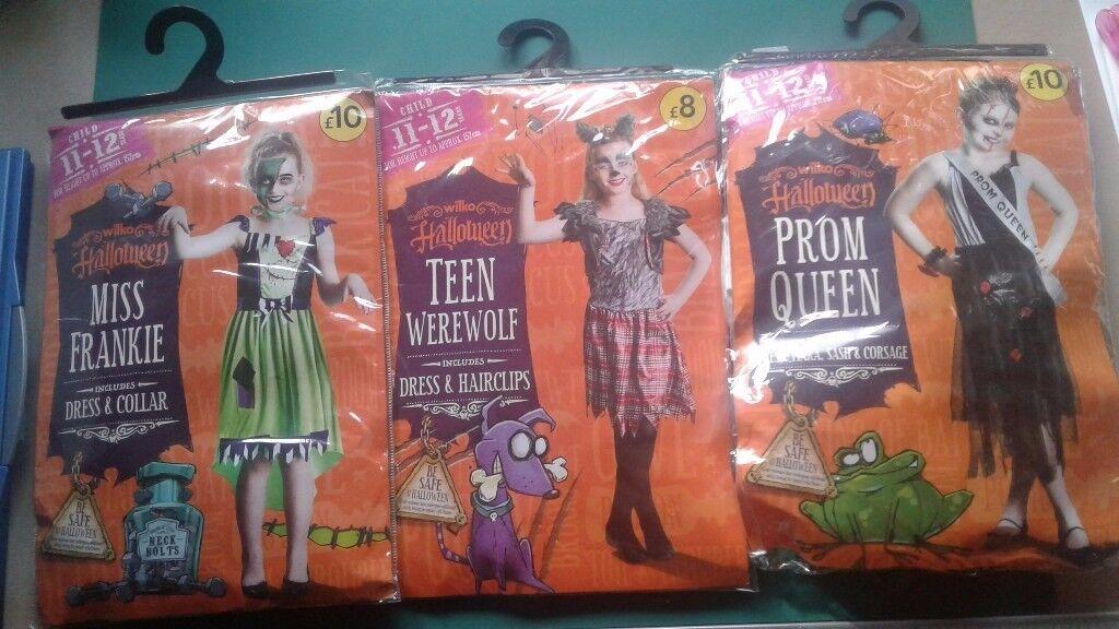 Kids childrens halloween costumes all ages boys girls zombie werewolf devil vampire reaper pirate