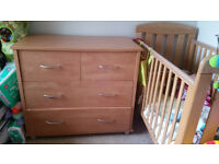 Lovely Kidsmill Montreal 3 piece Nursey Set Cot bed Wardrobe chest of drawers