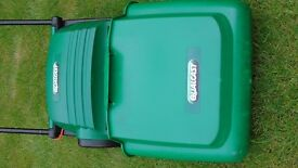 Qualcast 32 cm electric mower vgc recent service & blade sharpened/set complete with grass box