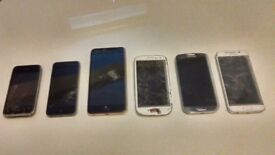 PHONE BUNDLE / BROKEN SCREENS BUT WORKING / SOME GOOD FOR SPARES!!!