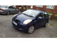 998cc YARIS 2007 BLUE 3 doors Long MOT not Micra corsa jazz 107 C1 Aygo Polo Alto Swift Note Pixo