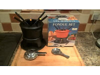 cheese/chocolate fondue set