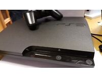 PS3 slim (250gb) with wired controller