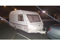 CARAVAN SPRITE 4 BERTH WITH FULL AWNING BATTERY WATER PUMP TABLE ECT. NO DAMP!!!