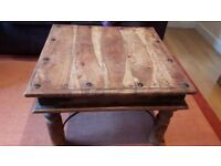 Rustic style chunky wooden table