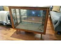 Vintage Retro Glass Display Cabinet Cocktail Cabinet Sideboard Console Dresser Sideboard for sale