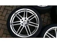 SINGLE AUDI VW 22 INCH ALLOY WHEEL RS4 STYLE 5X130 Q7 TOUAREG MERCEDES PORSCHE CAYENNE