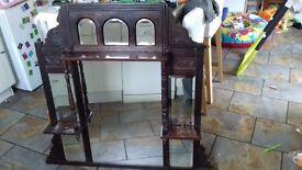 Antique Mahogany Victorian Overmantle Mirror