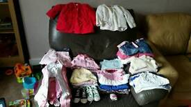 Girls 9-12 month old clothes bundle