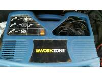 Workzone 240v air compressor tyre inflator