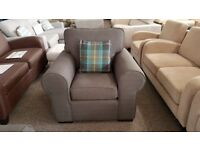 Ex Display Grey Fabric Armchair Can Deliver View Collect Hucknall Nottingham