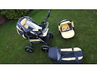 Baby Pram Buggy Pushchair Stroller APOLLO 3 in 1