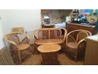 Cane Furniture Conservatory Set 4 piece - Used Fair/Good clean condition