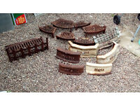 Vintage Cast Irn Fire Grates and Fronts