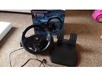 Thrustmaster t80 racing wheel for PS3 and ps4, in box